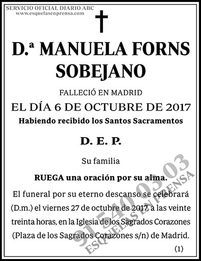 Manuela Forns Sobejano
